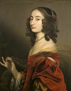 1650 Louise Hollandine, Princess Palatine, second daughter of Elizabeth of Bohemia, by Gerard van Honthorst
