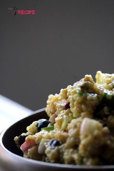 Salade crémeuse de quinoa, vinaigrette mangue et coriandre - Miss-Recipe.com