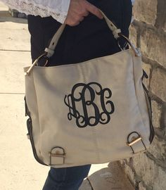 classic coach bags outlet q5ao  MONOGRAM Ivory Colored Purse Leather like Font shown INTERLOCKING in black  by MONOGRAMSINC on Etsy https