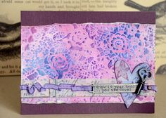 Created by May for the Simon Says Stamp Monday challenge (We Love Stamps) February 2014