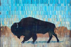 """""""Buffalo Kindness"""" by Judy Paul   Prints available at www.judypaul.com"""