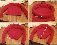 Ein Schlafnest aus einem alten Pullover. DIY Cozy Kitty Bed Made from an Old Sweater!
