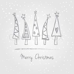 Xmas tree doodle for envelopes. stock vector ✓ 11 M images ✓ High quality images for web & print Christmas Tree With Snow, Christmas Art, All Things Christmas, Christmas Holidays, Christmas Ornaments, How To Draw Christmas Tree, Google Christmas, Xmas Trees, Christmas Vacation
