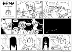 'Erma' webcomic will brighten your Halloween - Nerd Underground Cute Comics, Funny Comics, Erma Comic, Funny Cute, Hilarious, 4 Panel Life, Comics Story, Short Comics, Dark Comics