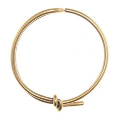 Balenciaga Knot Necklace ($495) ❤ liked on Polyvore featuring jewelry, necklaces, gold, yellow gold jewelry, gold tone necklace, knot necklace, gold necklaces and gold jewellery