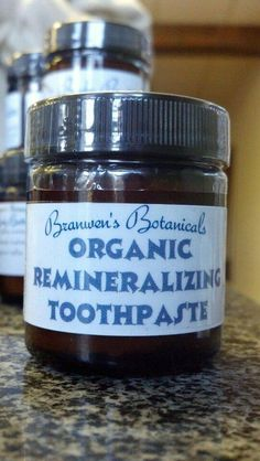 Remineralizing Toothpaste Organic by BranwensBotanicals on Etsy Gum Health, Teeth Health, Dental Health, Toddler Tooth Decay, Organic Supplies, Homemade Body Care, Full Body Cleanse, Teeth Care, Skin Care
