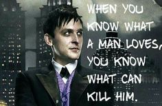Robin Lord Taylor. Oswald Cobblepot. Gotham.  From Bianca.