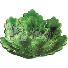 Foglia Fresca Green Leaf Shaped Salad Plate found on Polyvore