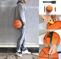 How to make your cool basketball custom bags step by step DIY tutorial instructions Fun Crafts, Diy And Crafts, Arts And Crafts, Sport Craft, Custom Bags, Recycled Crafts, Diy Accessories, Diy Fashion, Woman Fashion