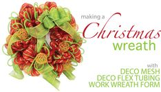 Party Ideas by Mardi Gras Outlet: Christmas Wreath with Deco Mesh: A Video Tutorial I have never used Deco Mesh - this looks cool! Christmas Colour Schemes, Christmas Colors, Christmas Holidays, Christmas Ideas, Christmas Wreaths To Make, Christmas Makes, Christmas Decorations, Holiday Wreaths, Wreath Crafts