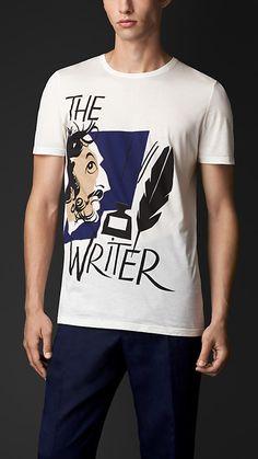 Off white The Writer Print T-Shirt - Image 1