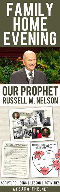 A Year of FHE // A Family Home Evening all about the life of LDS Prophet President Russell M. Nelson