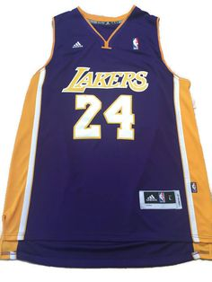 NBA Los Angeles Lakers Kobe Bryant # 24 Swingman Men's Away Jersey Purple New #adidas #LosAngelesLakers