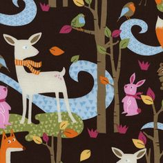 Fabric... Fawn Woodland Scenic by Timeless Treasures