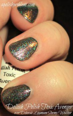 """Toxic Avenger"" by Dollish Polish... gotta love a nail polish brand that creates such colors as ""A Bad Case of Blueballs"", lol!"