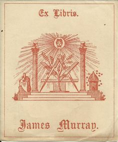EX LIBRIS BOOKPLATE 1910s AUSTRALIA MURRAY MASONIC FREEMASONRY 10X8CM A543 in Art, Art from Dealers & Resellers, Prints | eBay