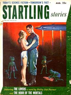 The Lovers was Philip Jose Farmer's first published story. It was controversial at the time because it featured a sexual relationship with an alien, but it's tame by today's standards.