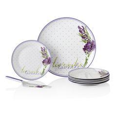 Lavender Kek Seti / Cake Set #bernardo #tavledesign #pasta