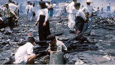 영도 피난민촌 화재 당시 사진 컬러복원 (출처 : 앨멀튼 목사)