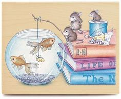 House Mouse Rubber Stamp