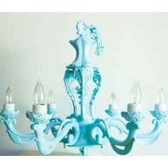 Tiffany Blue Shabby chandelier