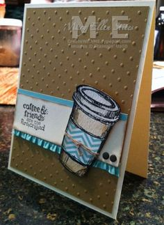 Stampin' Up! stamp set The Perfect Blend, Perfect Polka Dots embossing folder, ruffle stretch trim ribbon