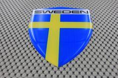 Sweden Flag 3D Decal Sticker Large