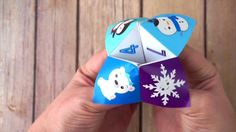 Video Tutorial: Printable Winter Joke Cootie Catcher