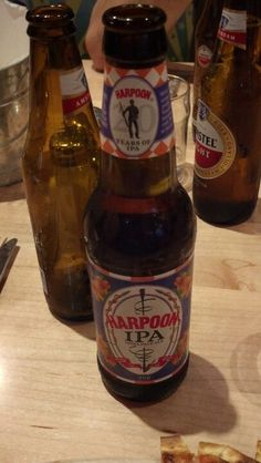 Harpoon IPA. Not as hoppy as other IPAs.