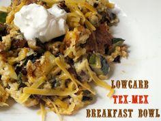 Tex Mex Breakfast Bowl Shared on https://www.facebook.com/LowCarbZen | #LowCarb #Breakfast