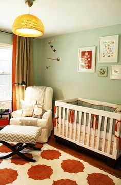 DIY nursery ideas with actual tutorial links. See:  hanging book display, doily lamp, and cornice
