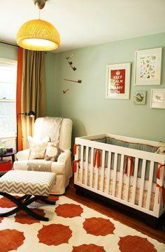 Gorgeous nursery with tons of DIY ideas.