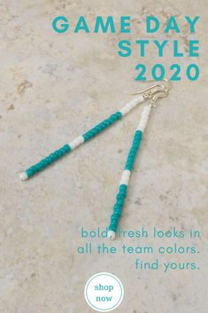 You'll have a hard time not smiling when you slip on these joyful beaded stick earrings in your school colors, letting your school spirit shine on school spirit day, or through the video call to your distance learning students!