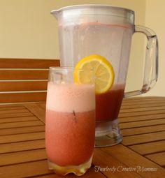 Frosty Raw Strawberry Lemonade #FoodieExtravaganza