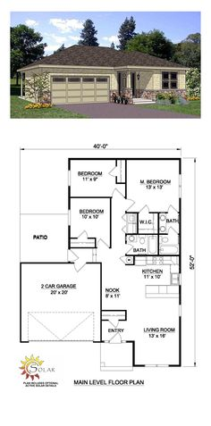 floor plans for master bedroom additions   Creating an Ideal Master     Southwest House Plan 94467   Total Living Area  1202 sq  ft   3