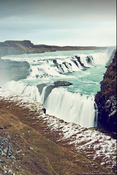 thundering liquid // gullfoss 'golden falls' Iceland by Marie l'Amuse
