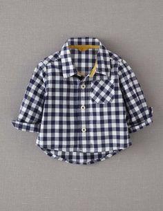 Gingham baby shirt