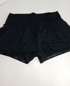 LULULEMON -Back On Track - Ruffled Skirt - Solid Black - Women's 4  | Clothing, Shoes & Accessories, Women's Clothing, Athletic Apparel | eBay!