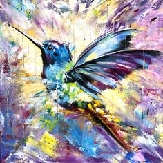 HUMMINGBIRD oil painting on canvas Colorful modern art Flying hummingbird Colorful birds in flight Beautiful birds oil painting Oil Painting Techniques, Painting Tutorials, Painting Lessons, Painting Videos, Art Techniques, Hummingbird Painting, Oil Painting Abstract, Watercolor Artists, Painting Art