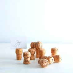 This listing is for a set of 100 used champagne corks with pre-cut slits on top for place cards. The corks have been previously used for bottling. They are from a random variety of vineyards worldwide, and are all 100% natural corks.  For the DIY bride, dress them up with