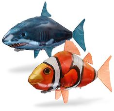 The Great White RC Flying Shark and Clownfish
