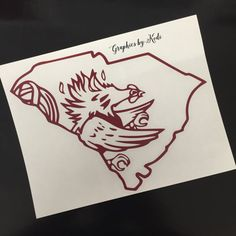 South Carolina Gamecocks Decal Sticker  South by GraphicsbyKodi