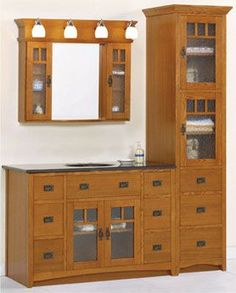 Bathroom Cabinets With Drawers. We Need This To Fill The Space That Will Be  Left · Craftsman Style ...