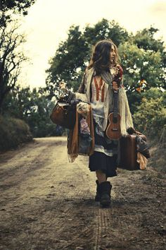 "Reenact this photo with Jocelyn and the Oregon Coast. a modern day gypsy....""Just a ukulele playing girl"""