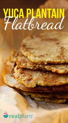 This AIP compliant yuca plantain flatbread uses mashed yuca and plantains, then lightly fried in coconut oil. Use as a wrap, pizza crust or sandwich bread! Yuca Recipes, Plantain Recipes, Paleo Recipes, Yucca Root Recipes, Plantain Bread, Mashed Plantains, Galette, Food Processor Recipes, Meal Planning