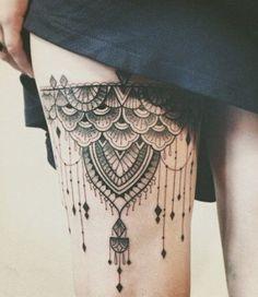 http://tattoos-ideas.net/black-pattern-thigh-tattoo/                                                                                                                                                                                 More