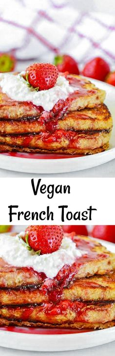Delicious Vegan French Toast without refined-sugar.
