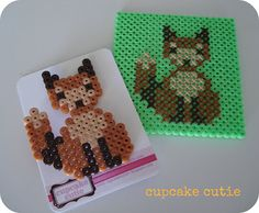 cupcake cutie: Stitching on Hama beads