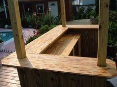 Outdoor bar - ideas for bar around the deck