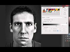 Tutorial Photoshop: Efecto dramático en blanco y negro, color y color desaturado (3 en 1). - YouTube